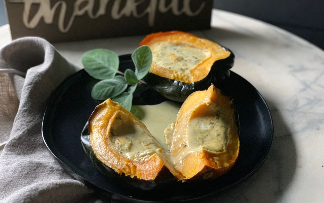 Acorn Squash with Coconut Custard